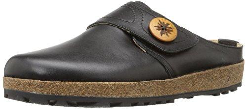 (Haflinger LC57 Bavarian Leather Clog,Black,36 EU (US Women's 5 M))