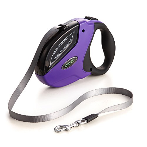 Aipet Retractable Dog Leash, Walking Leash 16 Ft Nylon Ribbon for Medium Large Dog up to 110lbs, One Button Break & Lock ,Soft Grip Handle by AIPET
