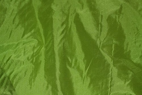 (Lime Green Tissue Taffeta Silk, 100% Silk Fabric, By The Yard, 44