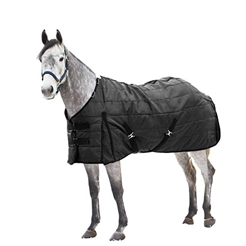 Horse Stable Blanket (Horze Nevada Stable Cool Weather Blanket 200g Black 78
