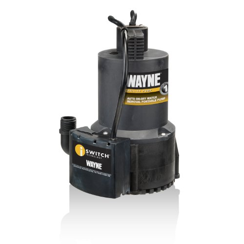 Wayne 57729-WYN1 EEAUP250 1/4 HP Automatic ON/OFF Electric Water Removal Pump -