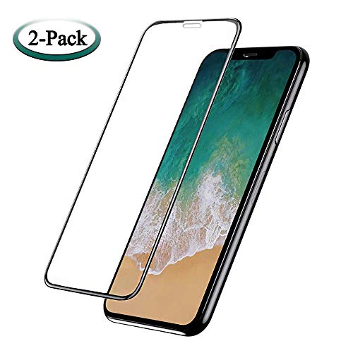 TangDirect 43237-2 iPhone X/XS Screen Protector, Premium 9H Hardness, Ultra Clear, Anti-Scratch, Accurate Touch Black, Ultra-Thin (2 Pack), Blue