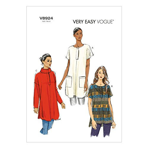 Vogue Patterns V8924 Misses' Tunic Sewing Template, Size ZZ (LRG-XLG-XXL) from Vogue Patterns