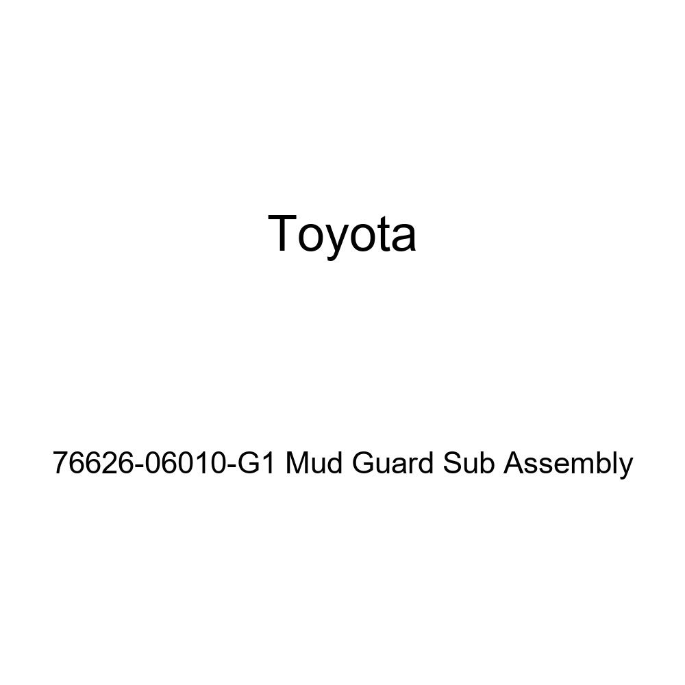 TOYOTA Genuine 76626-06010-G1 Mud Guard Sub Assembly