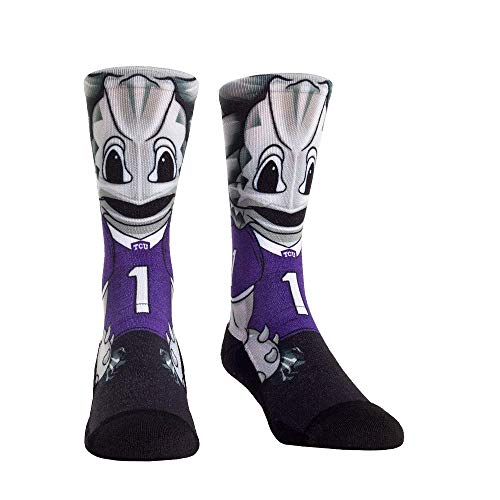 NCAA Super Premium College Fan Socks (L/XL, TCU Horned Frogs - Mascot)