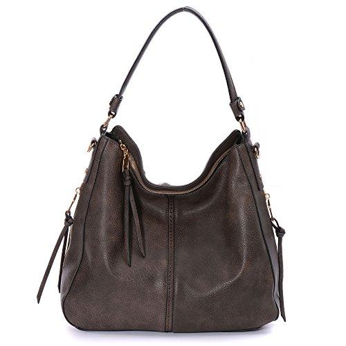 Large Bucket Shoulder Handbag Bag (DDDH Large Women's Hobo Handbags PU Leather Purse Bag Cross-body Shoulder Bag Vintage Top-handle Bucket Bag(Coffee2))