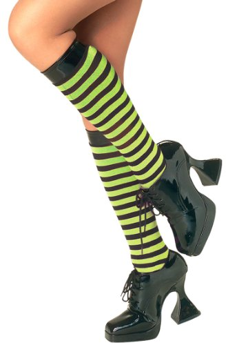 Rubie's Costume Co Gn/Bk Striped Knee Highs Costume