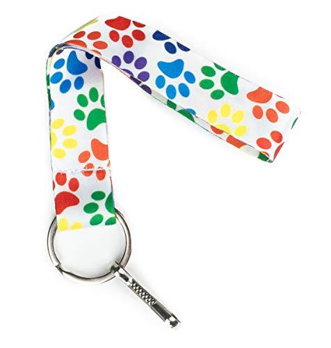 Print Wristlet - Limeloot Paw Print Wristlet Lanyard Keychain