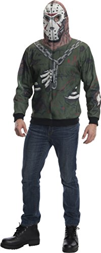 Rubie's Men's Friday The 13Th Jason Adult Costume Hoodie, Multi, X-Small ()