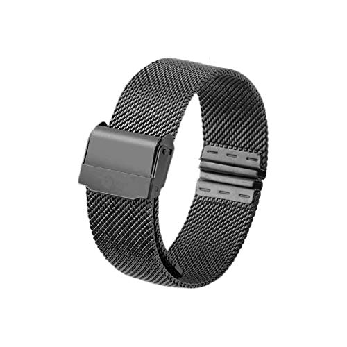 12mm 14mm 16mm 20mm Correa de Reloj Metal Malla magnética Reloj de Pulsera de Acero Inoxidable Banda de Reloj de liberación rápida para Reloj DW - Negro 16 ...