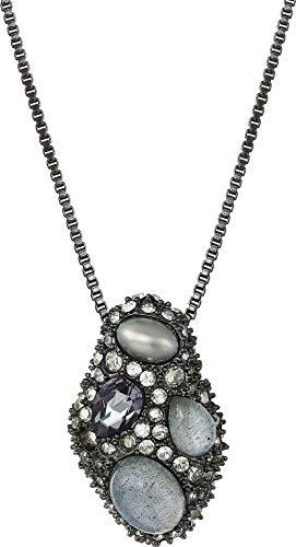 Pendant Alexis Bittar - Alexis Bittar Women's Stone Cluster Pendant Necklace Ruthenium One Size