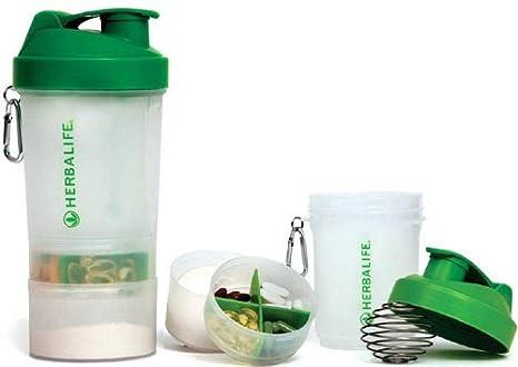 Herbalife botella para batidos con secciones desmontables + mezclador de alambre