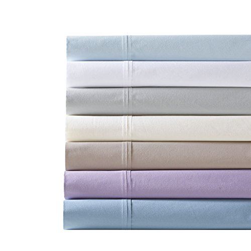 Madison Park Peached Percale Cotton Sheet Set Grey ()