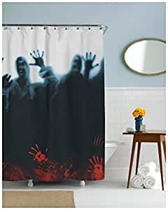 Zombie Herd Shower Curtain Scary Zombies Shower Curtains Standard