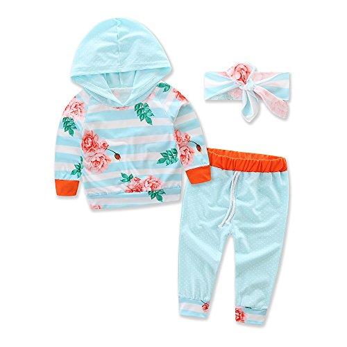[samgani baby Girls boy cotton stripe printing long pants Suit kids Leisure time clothes motion clothing set Size 6M-3Y (tag:90/1-2Y)] (Short Skirt Long Jacket Cake Costume)