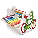 Wooden Music Toys, 8 Tones Wooden Xylophone Knock Xylophone Colorful Numbers Counting Games for Preschool Boys and Girls 2 Year Olds and Up