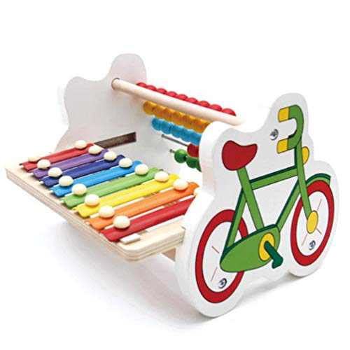 (Wooden Music Toys, 8 Tones Wooden Xylophone Knock Xylophone Colorful Numbers Counting Games for Preschool Boys and Girls 2 Year Olds and Up)