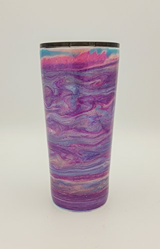 (Taffy Purple Pink Blue Pastel Sparkle Swirl   Alcohol Ink   24 oz   Stainless Steel   Hot Ice Cold Tumbler   Drink Cup)