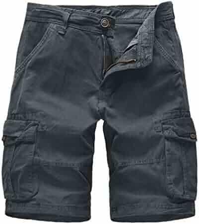 Dark Khaki Plaid Decoration Mens Fashion Casual Classic Beach Shorts Quick-Dry Gym Adjustable Drawstring Shorts Yoga
