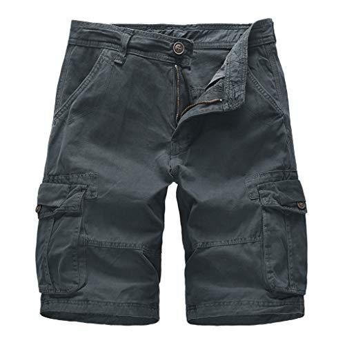 Premium Mens Board Shorts, Summer Beach Shorts Cotton Comfy Swim Shorts Casual Swim Trunks (36, Dark Gray)