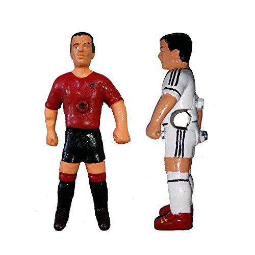 Jugador futbolin nuevo modelo deport/ín para barra 13 mm blanco//negro