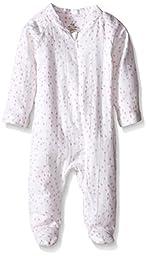 aden + anais Baby-Girls Newborn Muslin Long-Sleeve Zip One Piece, Lovely Mini Hearts, 3-6 Months