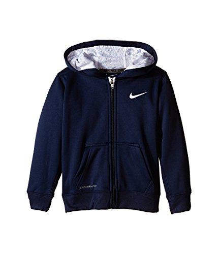 Nike Kids Boys' KO 2.0 Full Zip Hoodie (Little Kids), Obsidian, 5 (Nike Boy Coat)