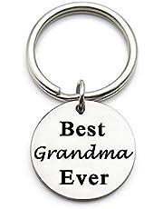 XYBAGS Llavero de metal para el Día de la Madre, Navidad, cumpleaños, regalo para la abuela, la mejor abuela jamás