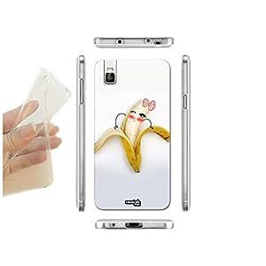 caselabdesigns carcasa funda blanda Banana Girl para Huawei Honor 7i TPU–Concha de silicona protectora antigolpes