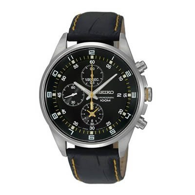 Seiko-SNDC89P2-Mens-Watch-Quartz-Chronograph-Black-Dial-Black-Leather-Strap