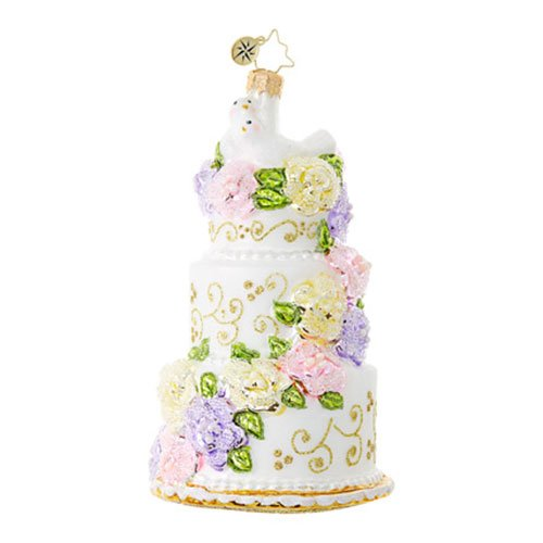 Christopher Radko Newlywed Sweets Bridal Christmas Ornament