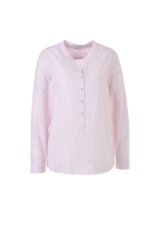 Milano Italy Damen Bluse V-Neck Shirt rosa