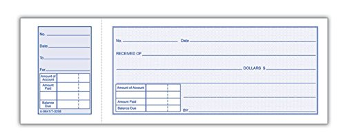 (Adams Money Receipt Book With Stub, 5 15/16in. x 2 3/4in., Pack Of 5)