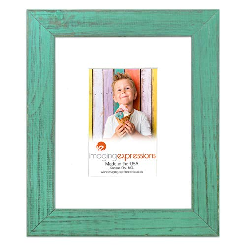 Country Colors Rustic Farmhouse Teal Picture Frame 8x10