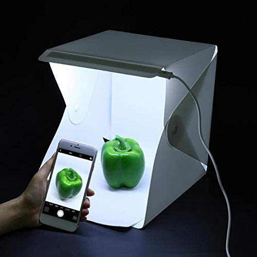 REFURBISHHOUSE Faltbare Kamera Leuchtkasten Fotografie Foto Studio Softbox Led Licht Softbox Foto Hintergrund Kit Licht Box Zelt Softbox