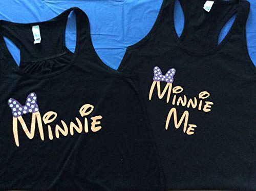 Handmade Disney Minnie & Minnie Me,Mickey's Not So Scary Halloween Party,mother/daughter shirts]()