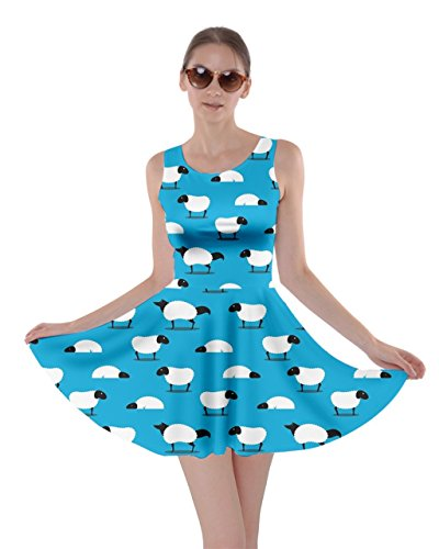 CowCow Blue 5XL Hippo Dress XS Animal Pig Sheep Skater Dog Womens Rabbit Horse Cat Sky Wolf Panda Zw4ZUrq