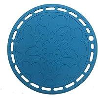 SOVINA Premium Silicone Hot Pads Trivet Blue, Insulation, Non stick heat resistant, Splatter Guard,Durable, Pot holder…