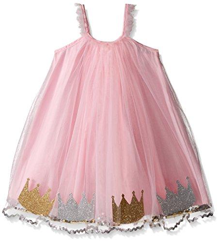 Mud Pie Little Girls' Toddler Birthday Dress, Crowns, Medium/Large/ThreeT-5T ()
