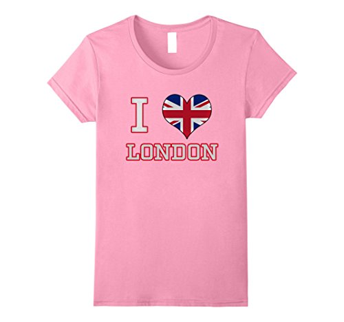Used, Womens I Love (Heart) London UK British Flag T-shirt for sale  Delivered anywhere in USA