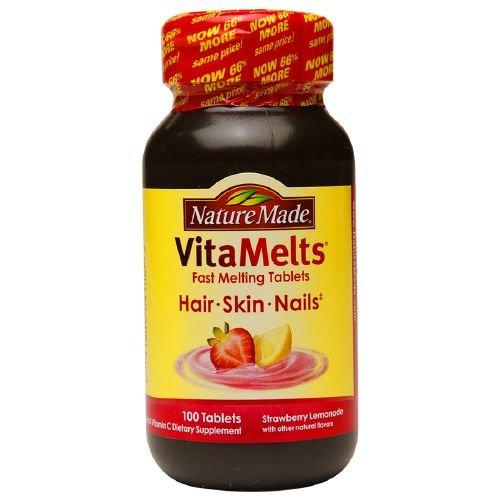 Nature Made VitaMelts Hair, Skin & Nails, Tablets, Strawb...