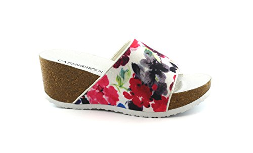 Multicolor Da Donna Zeppa Fori Noir Ha902 Caf Pantofole fqnStX4P