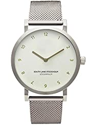 South Lane SODERMALM Quartz Stainless Steel Casual Watch, Color:Silver-Toned (Model: 659436314580)