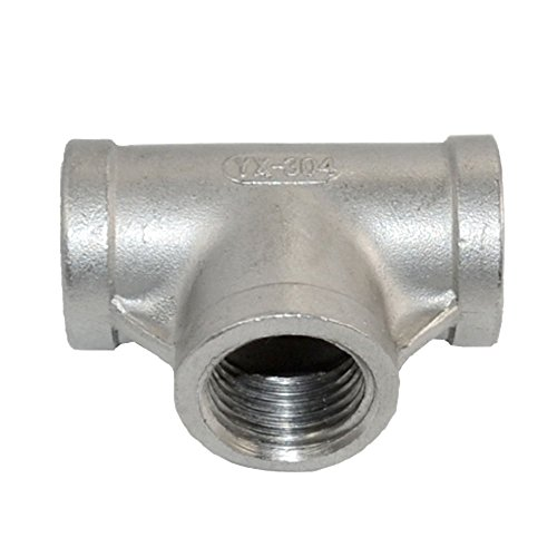 Megairon Stainless Steel 304 NPT Female Thread Pipe Fitting Adapter,1/2