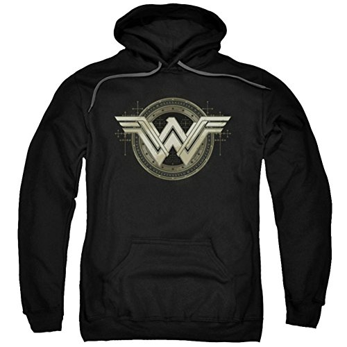 Trevco Men's Batman Vs. Superman Ancient Emblems Hoodie Sweatshirt at Gotham City Store