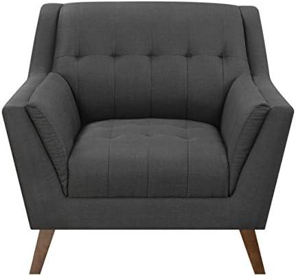 Emerald Home Binetti Charcoal Sahara Pebble Accent Chair