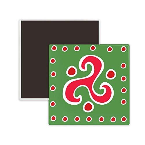DIYthinker Spiral Dart Mexico Totems Ancient Civilization Square Ceramics Fridge Magnet 2pcs