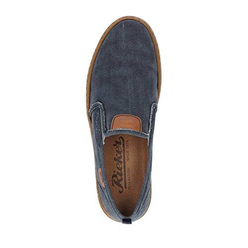 Rieker Heren-slipper Blau 630675-5 Atlantic / Amaretto / Navy