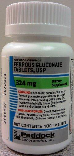 FERROUS GLUC TB 324 MG ***PAD Size: 100, My Pet Supplies