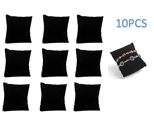 P2P@zita 10-pieces Velvet Small Bracelet /Watch Pillow Jewelry Displays (Black) (Black)